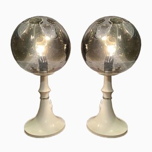 Imperial Mazzega Glass Table Lamps, 1960s, Set of 2