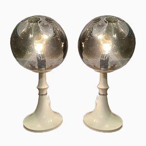 Lampes de Bureau Imperial Mazzega en Verre, 1960s, Set de 2