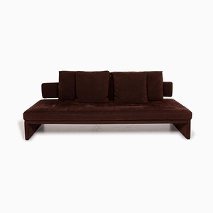 Dark Brown Two-Seater Alcantara Sofa by EOOS Design for Walter Knoll