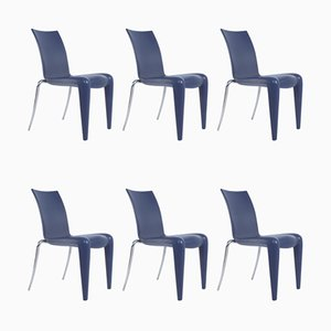 Cobalt Blue Louis 20 Dining Chairs by Philippe Starck for Vitra, Set of 6