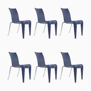 Louis 20 Esszimmerstühle in Kobaltblau von Philippe Starck für Vitra, 6er Set