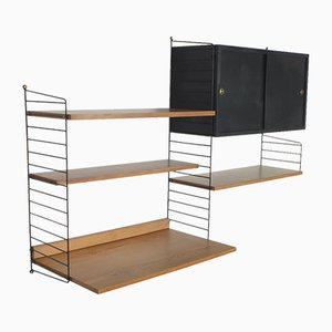 String Wall System with Cabinet and Writing Shelf by Kajsa and Nisse Strinning for AB String, 1948