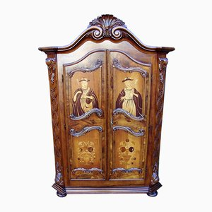 Vintage Inlaid Wardrobe