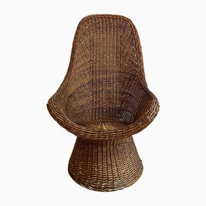 Vintage Wicker Chair, 1970s