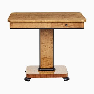 Mid-Century Swedish Birch Side Table