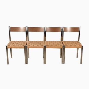 Italian Iron and Plywood Chairs from Salvarani, 1970s, Set of 4