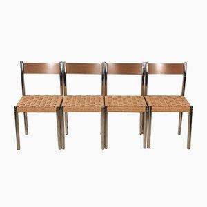 Italienische Stühle aus Eisen & Schichtholz von Salvarani, 1970er, 4er Set