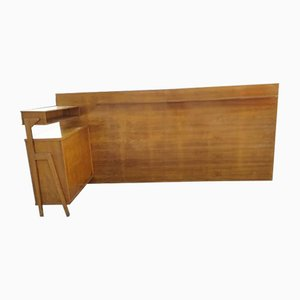 Italian Bed Cabinet and Side Wall, 1950s