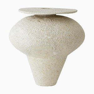Isolated N.19 Stoneware Vase by Raquel Vidal and Pedro Paz