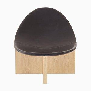 Nido Black in Oak Lounge Chair by Estudio Persona