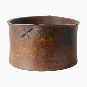 Limed and Oiled Oak Bowl by Fritz Baumann