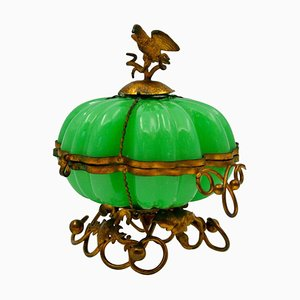 Antique Pumpkin-Shaped Box
