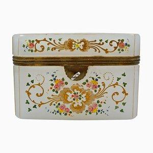 Antique Enameled Opaline Box