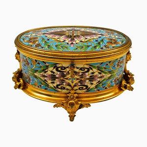Antiker Kasten aus vergoldeter und gemeißelter Bronze