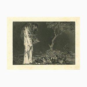 Francisco Goya, Disparate Fear, 1875, Original Etching