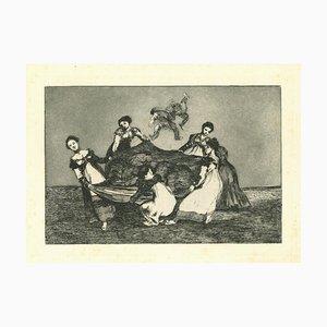 Francisco Goya, Disparate Feminino, Original Etching, 1875