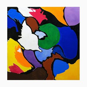 Giorgio Lo Fermo, Abstrakte Muster, 2020, Original Öl auf Leinwand