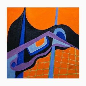 Giorgio Lo Fermo, The Blue Line, Huile sur Toile, 2020