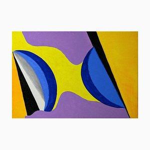 Giorgio Lo Fermo, Colored Shapes, 2020, Original Oil on Canvas