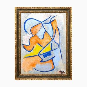 Giorgio Lo Fermo, Blue Labirinth, 2020, Original Oil on Canvas