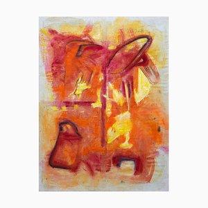 Giorgio Lo Fermo, The Abstract Flame, 2020, Original Oil on Canvas