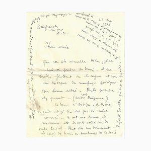 Jean Cocteau, 1935, Autogrammbuchstabe