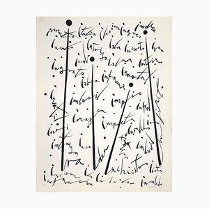 Rafael Alberti, Letter I, 1972, Original Lithograph