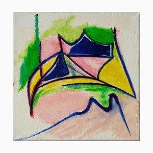 Giorgio Lo Fermo, Pink Turns Blue, 2020, Original Oil on Canvas