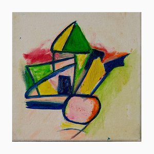 Giorgio Lo Fermo, Geometrical Abstract Composition, Oil Painting, 2020