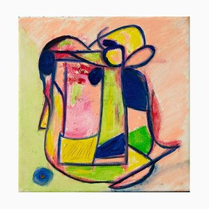 Giorgio Lo Fermo, Abstrakte Form, 2020, Original Öl auf Leinwand
