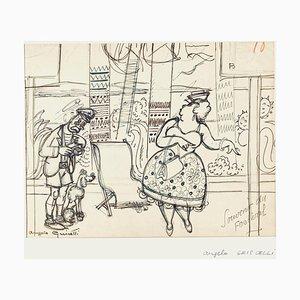 Angelo Griscelli, Die Erinnerung an das Festival, 20. Jahrhundert, Originale Zeichnung