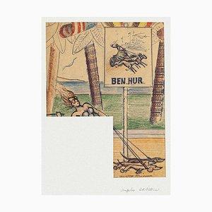 Angelo Griscelli, Ben-Hur, Mitte 20. Jahrhundert, Originale Mischtechnik