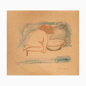 Mino Maccari, Nude, Watercolor, 1950s