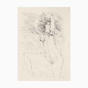Sergio Barletta, Nude, 1980, Original Etching