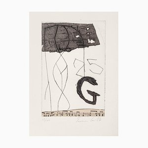 Tommaso Cascella, Musical Notes, 20th Century, Original Etching