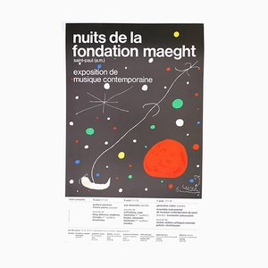 Joan Miró, Nights of the Fondation Maeght, 1965, Vintage Poster