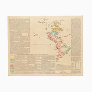 Vintage the Americas Map, 1806