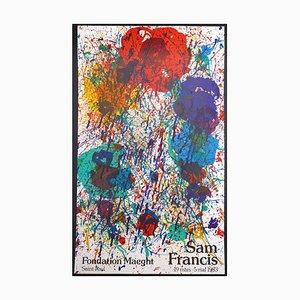 Affiche Sam Francis, Fondation Maeght, 19 mars 1983