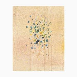 Jean Delpech, Abstrakte Komposition, 1953, Original Aquarell auf Papier