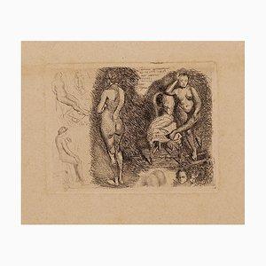 Isac Regnaut, Nude, 20th Century, Original Etching