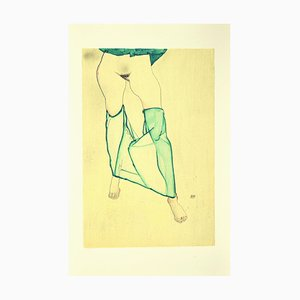 (after) Egon Schiele, Standing Female Nude from the Waist Down, Lithograph