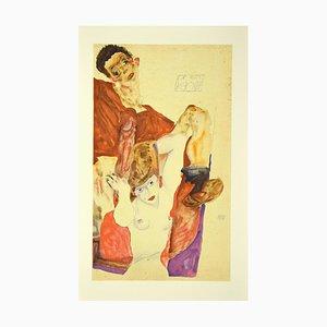 nach Egon Schiele, The Red Host, Originale Lithographie