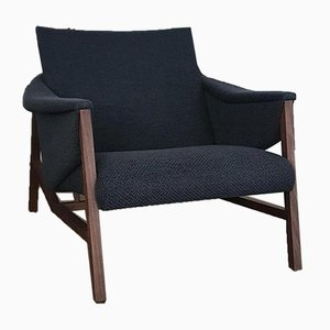 Isa Lounger with Walnut Frame by Jader Almeida