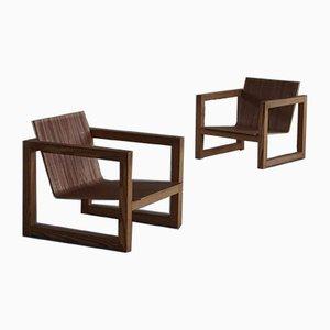 Scandinavian Modern Sculptural Pine Lounge Chair, 1960s