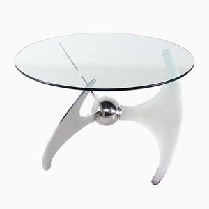 High Propeller Folding Coffee Table by Campanini Luciano for Cama, 1973