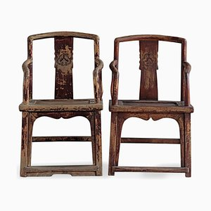 Antique Shandong Southern Official Chairs, Set of 2