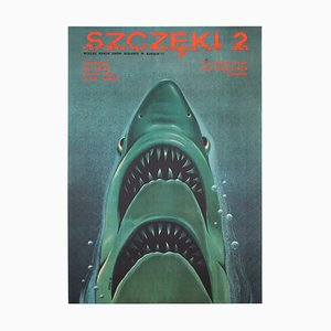 Polish Jaws 2 Film Move Poster by Edward Lutczyn, 1979