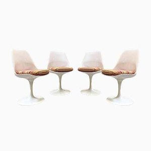Vintage Tulip Dining Chairs, 1980s, Set of 4