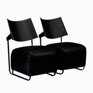 OScar Armchairs by Harri Korhonen for Inno Oy, 1980s, Set of 2