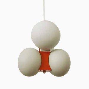 Opaline Glass Sputnik Chandelier from Kaiser Leuchten, 1960s